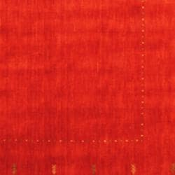 Indo Hand-loomed Red/ Green Gabbeh Wool Rug (6' x 9') - Thumbnail 2