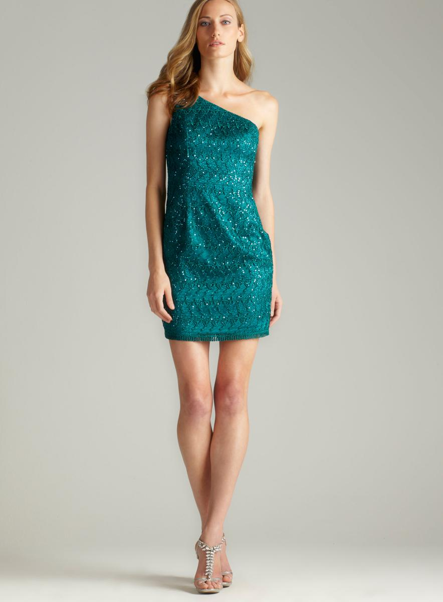 Adrianna Papell Lace And Sequin Dress