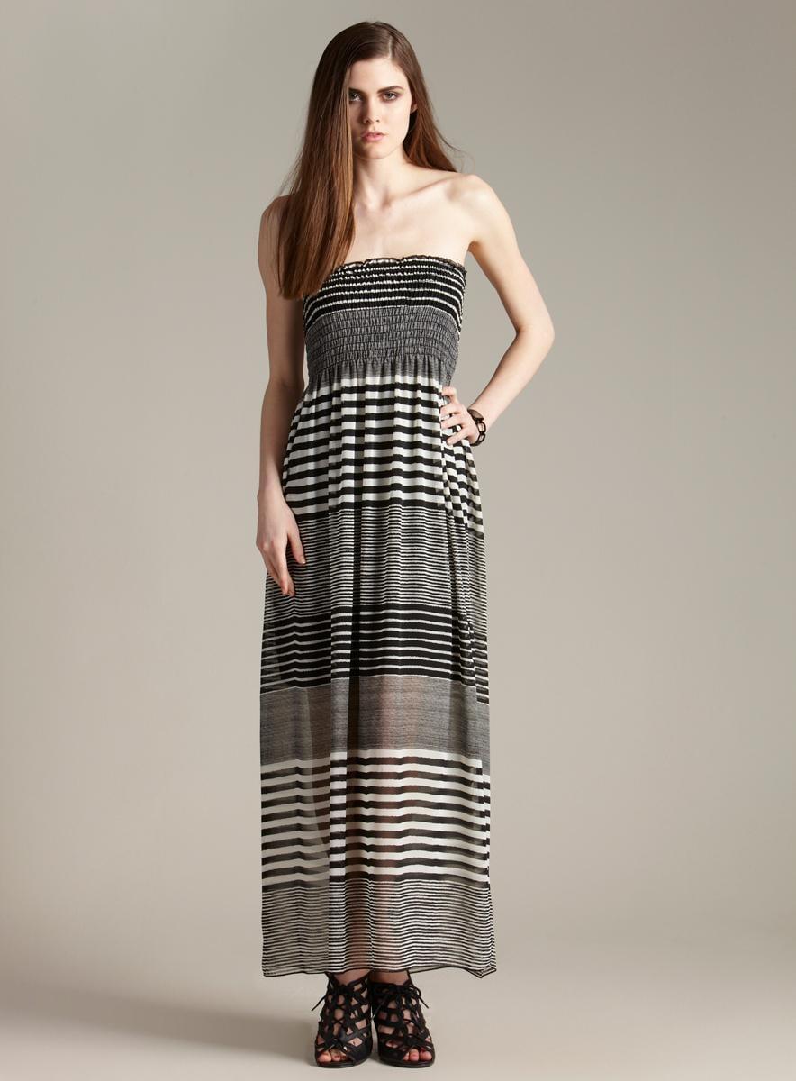 Romeo & Juliet Couture Tube Stripe Maxi Dress