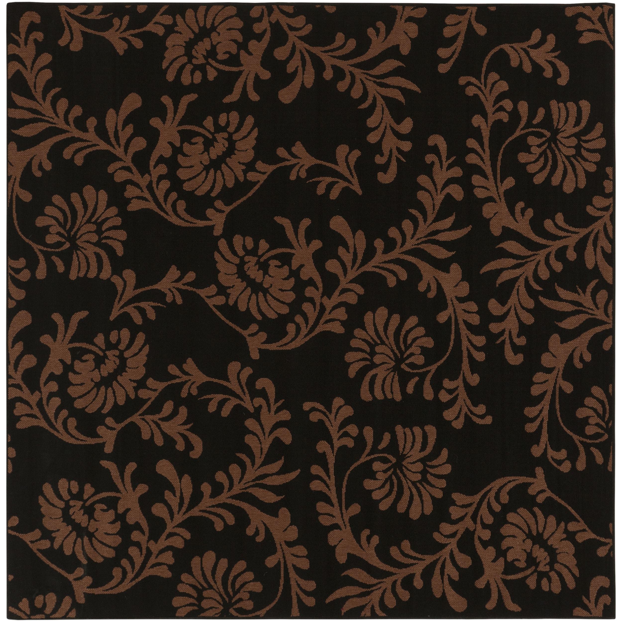 Levuka Russet Floral Indoor/Outdoor Rug (8'9 x 8'9)