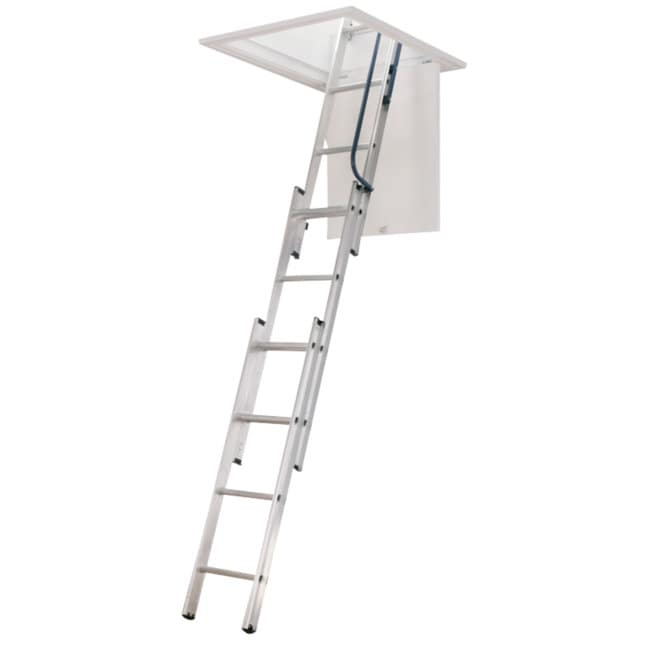 Shop Werner Company Compact Aluminum Attic Ladder Free