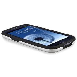 Black/ Silver Hybrid Case for Samsung Galaxy S III - Thumbnail 1