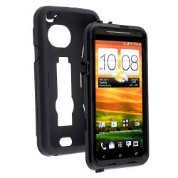 Black Hybrid Case with Stand for HTC EVO 4G LTE - Thumbnail 2