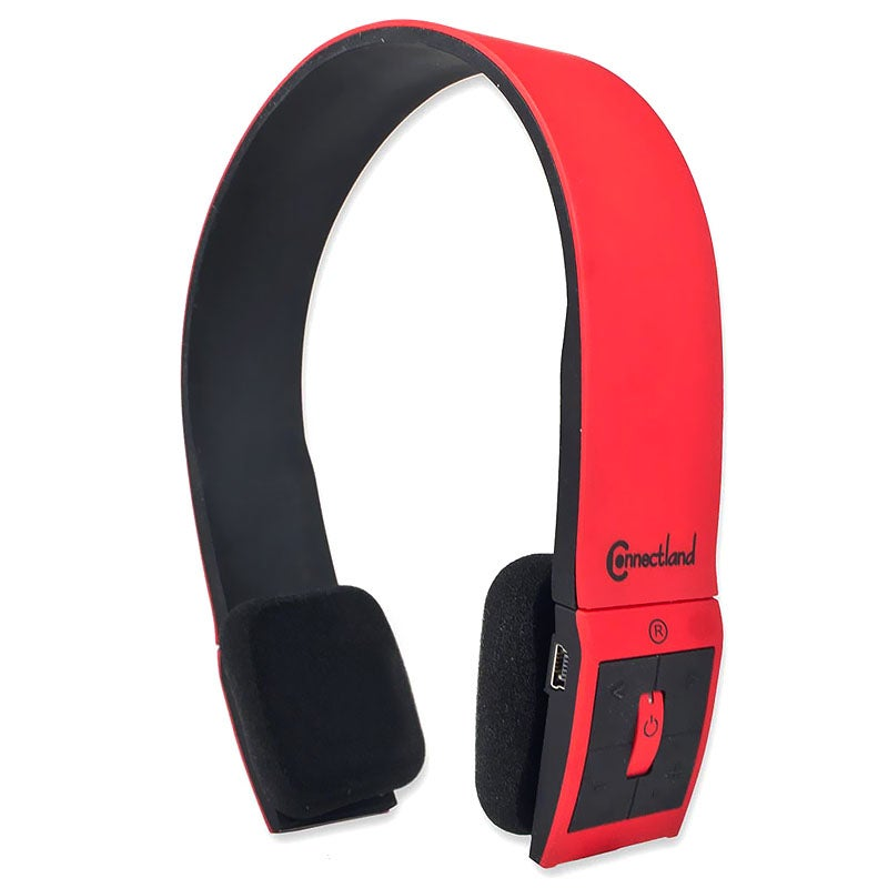 Connectland Red Modern Over-ear Headset with Microphone