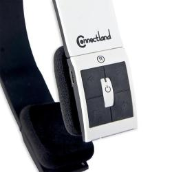 Connectland White Modern Over-ear Headset with Microphone