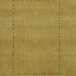 Indo Hand-loomed Beige/ Green Gabbeh Wool Rug (2' x 3') - Thumbnail 1