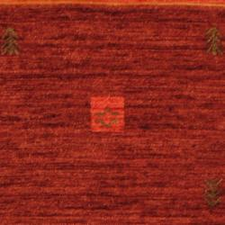 Indo Hand-loomed Burgundy/ Red Gabbeh Wool Rug (2' X 3') - Thumbnail 1