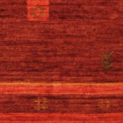 Indo Hand-loomed Burgundy/ Red Gabbeh Wool Rug (2' X 3') - Thumbnail 2
