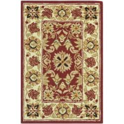 Safavieh Hand-hooked Chelsea Fall Tabriz Red Wool Rug (1'8 x 2'6)
