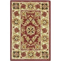 Safavieh Hand-hooked Chelsea Fall Tabriz Red Wool Rug - 1'8 x 2'6