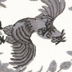 Safavieh Hand-hooked Hens Grey Wool Rug (2'6 x 4')