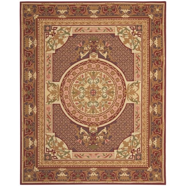 Safavieh Hand-hooked Chelsea Beige/ Red Wool Rug (8'9 x 11'9)