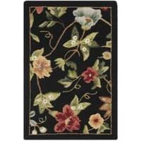Safavieh Hand-hooked Chelsea Gardens Black Wool Rug - 1'8 x 2'6