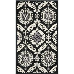 Safavieh Hand-hooked Chelsea Heritage Black Wool Rug (2'6 x 4')