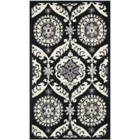 """Safavieh Hand-hooked Chelsea Heritage Black Wool Rug - 2'6"""" x 4'"""