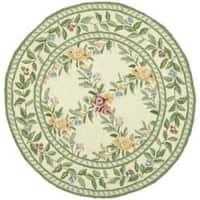 Safavieh Hand-hooked Garden Trellis Ivory Wool Rug (3' Round) - 3' Round