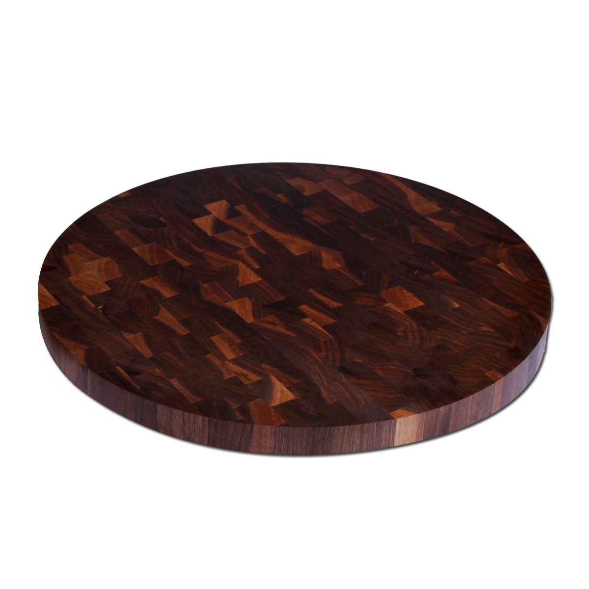 Kobi Walnut Wood Round Butcher Block Cutting Board