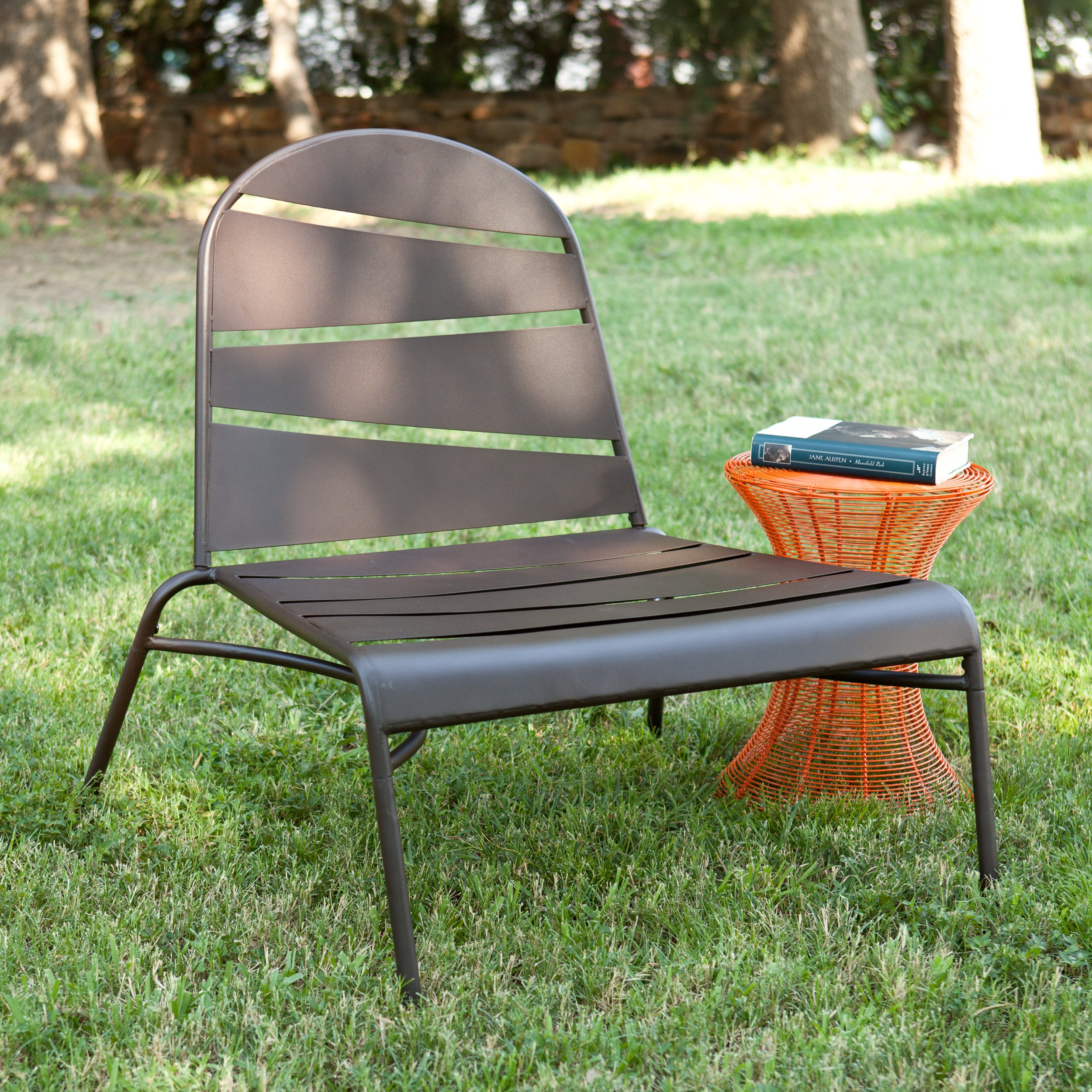 Brown Indoor/ Outdoor Lounge Chair - Thumbnail 0