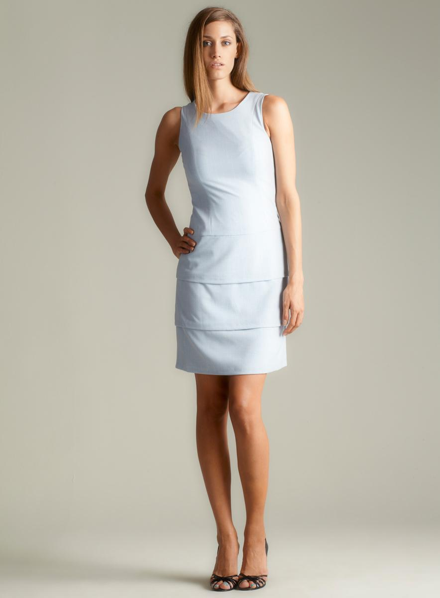 Calvin Klein Sleeveless Tiered Sheath Dress