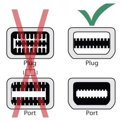 BasAcc White Mini DisplayPort to VGA Male to Female Adapter