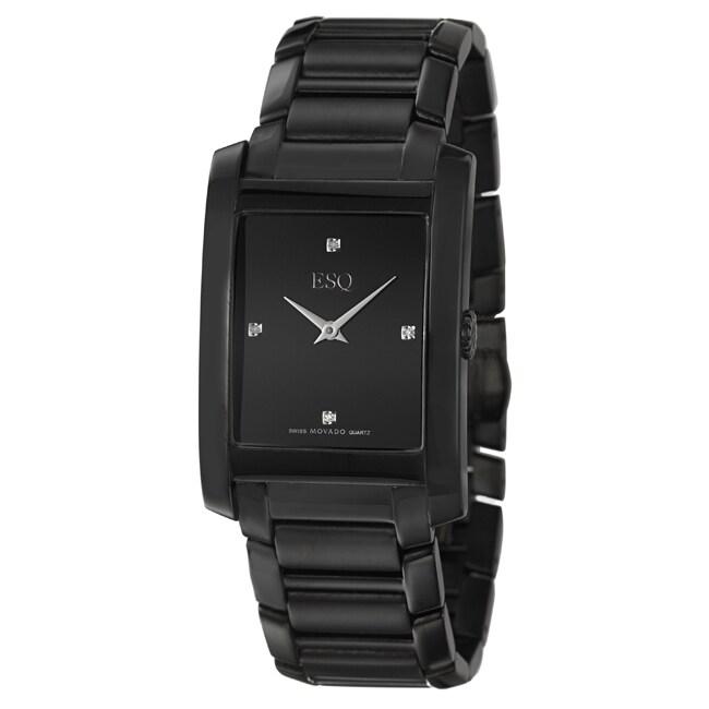 ESQ by Movado Men's 'Venture' Black Ion-plated Steel Watch