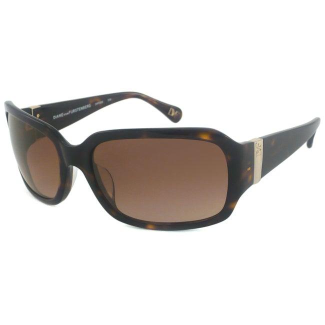 Diane Von Furstenberg Women's DVF532S Wrap Sunglasses