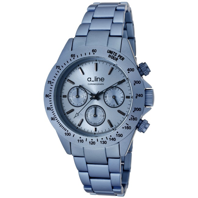 a_line Women's 'Amore' Light Blue Aluminum Watch - Thumbnail 0
