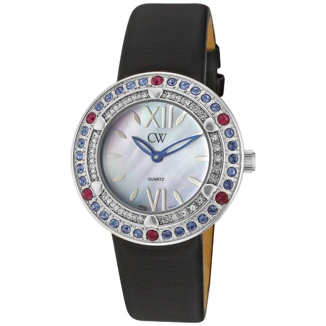 CW Women's Black Satin Watch