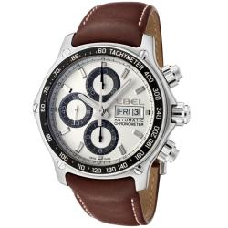 Ebel Men's 9750L62/63B35P11 '1911 Discovery' Chronograph Automatic Brown Leather Watch