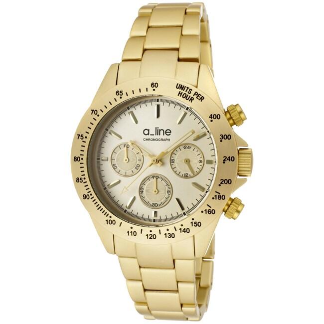 a_line Women's 'Amore' Goldtone Aluminum Watch