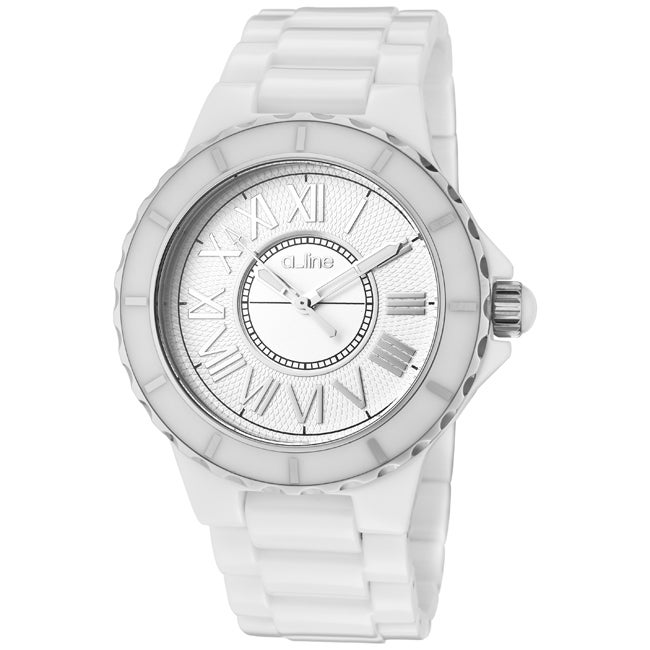 a_line Women's 'Marina' White Ceramic Watch