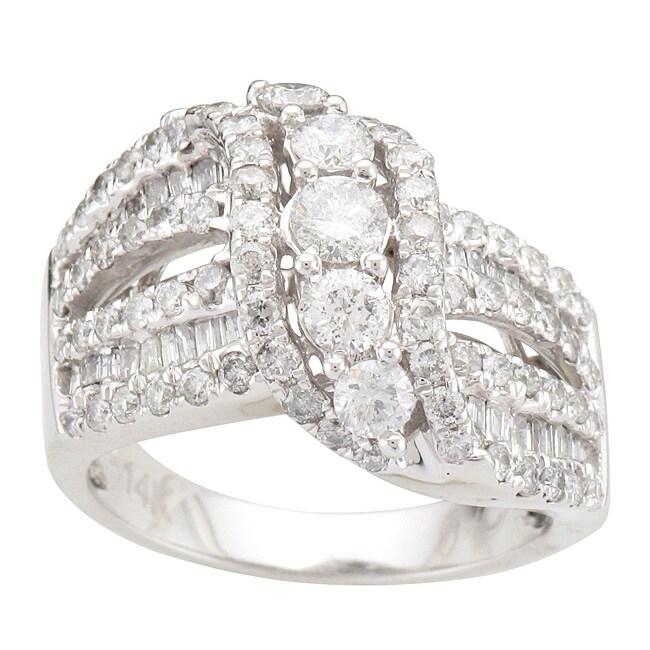 Unending Love  14k White Gold 2ct TDW Diamond Fashion Ring (I-J, I2-I3)