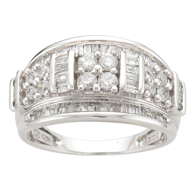 Unending Love  10k White Gold 1ct TDW Diamond Fashion Ring (I-J, I2-I3) - Thumbnail 0