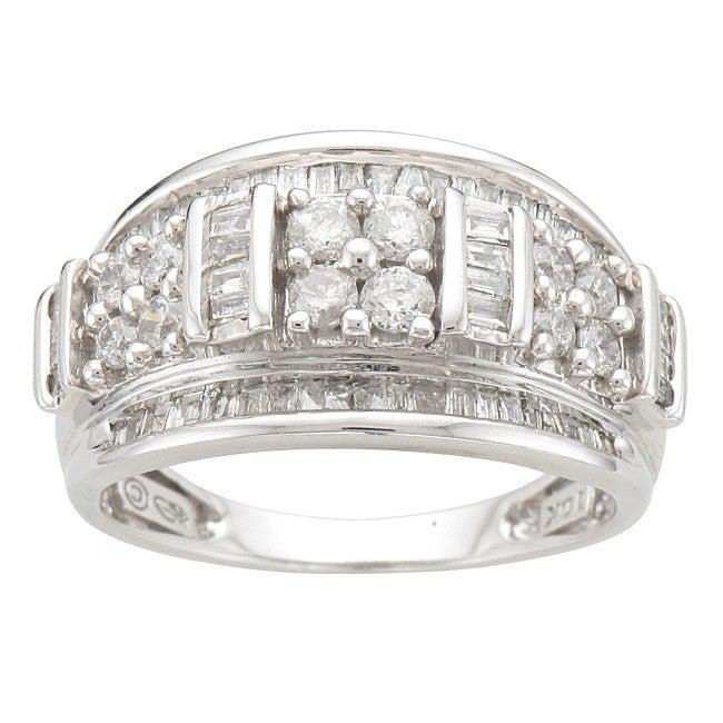 Unending Love 10k White Gold 1ct TDW Diamond Fashion Ring (I-J, I2-I3)