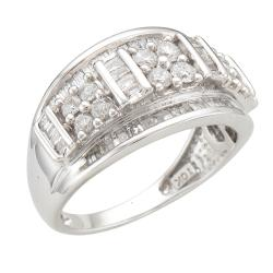Unending Love  10k White Gold 1ct TDW Diamond Fashion Ring (I-J, I2-I3) - Thumbnail 1