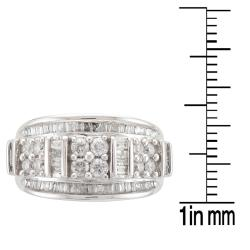 Unending Love  10k White Gold 1ct TDW Diamond Fashion Ring (I-J, I2-I3) - Thumbnail 2