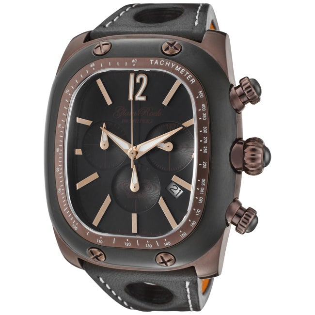 Glam Rock Unisex 'Gulfstream' Brown/Orange Nappa Leather Watch