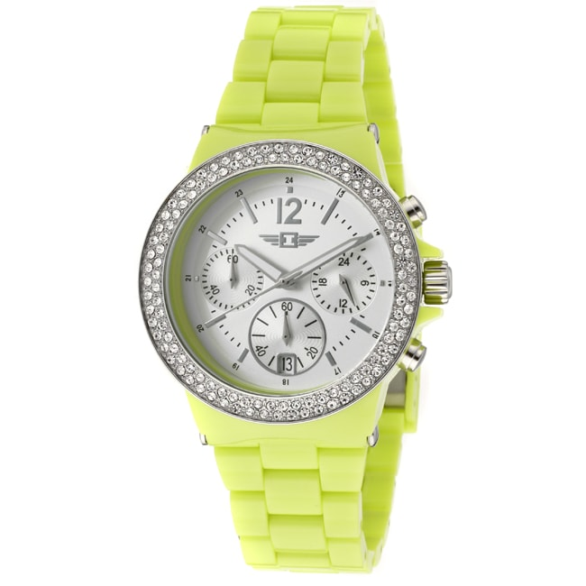 I by Invicta Women's Neon Light Green Plastic Watch