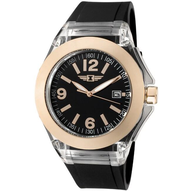 I by Invicta Women's Black Polyurethane Watch