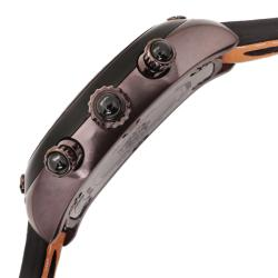 Glam Rock Unisex 'Gulfstream' Brown/Orange Nappa Leather Watch - Thumbnail 2