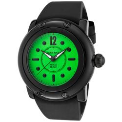 Glam Rock Women's 'Miami Beach' Black Silicone Watch