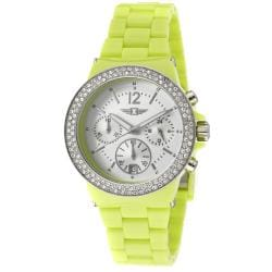 I by Invicta Women's Neon Light Green Plastic Watch - Thumbnail 0