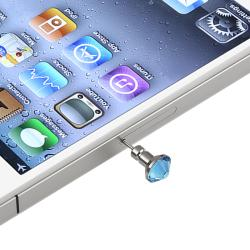 Blue Dust Cap/ Blue Button Sticker for Apple® iPhone/ iPad/ iPod