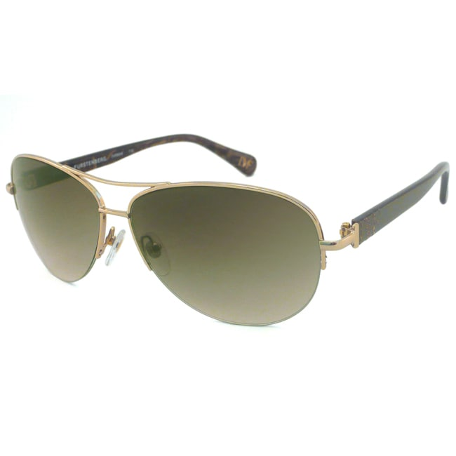 4c60aa5842a Shop Diane Von Furstenberg Women s DVF804S Aviator Sunglasses - Free  Shipping On Orders Over  45 - Overstock.com - 6793736