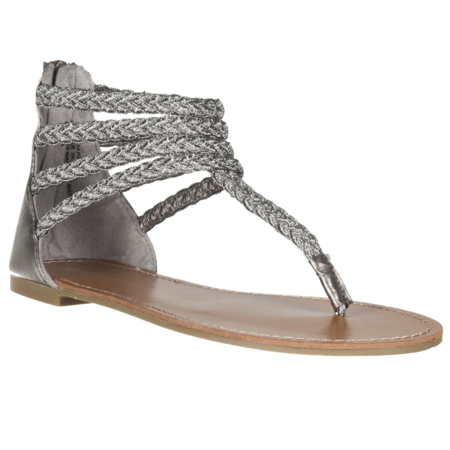 Riverberry Women's 'Sloane' Pewter Gladiator Sandal