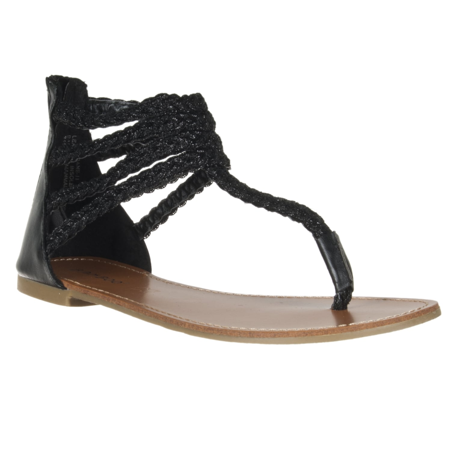 Riverberry Women's 'Sloane' Black Gladiator Sandal - Thumbnail 0
