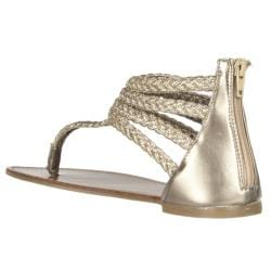 Riverberry Women's 'Sloane' Gold Gladiator Sandal - Thumbnail 1