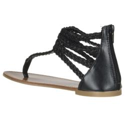 Riverberry Women's 'Sloane' Black Gladiator Sandal - Thumbnail 1