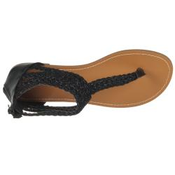 Riverberry Women's 'Sloane' Black Gladiator Sandal - Thumbnail 2