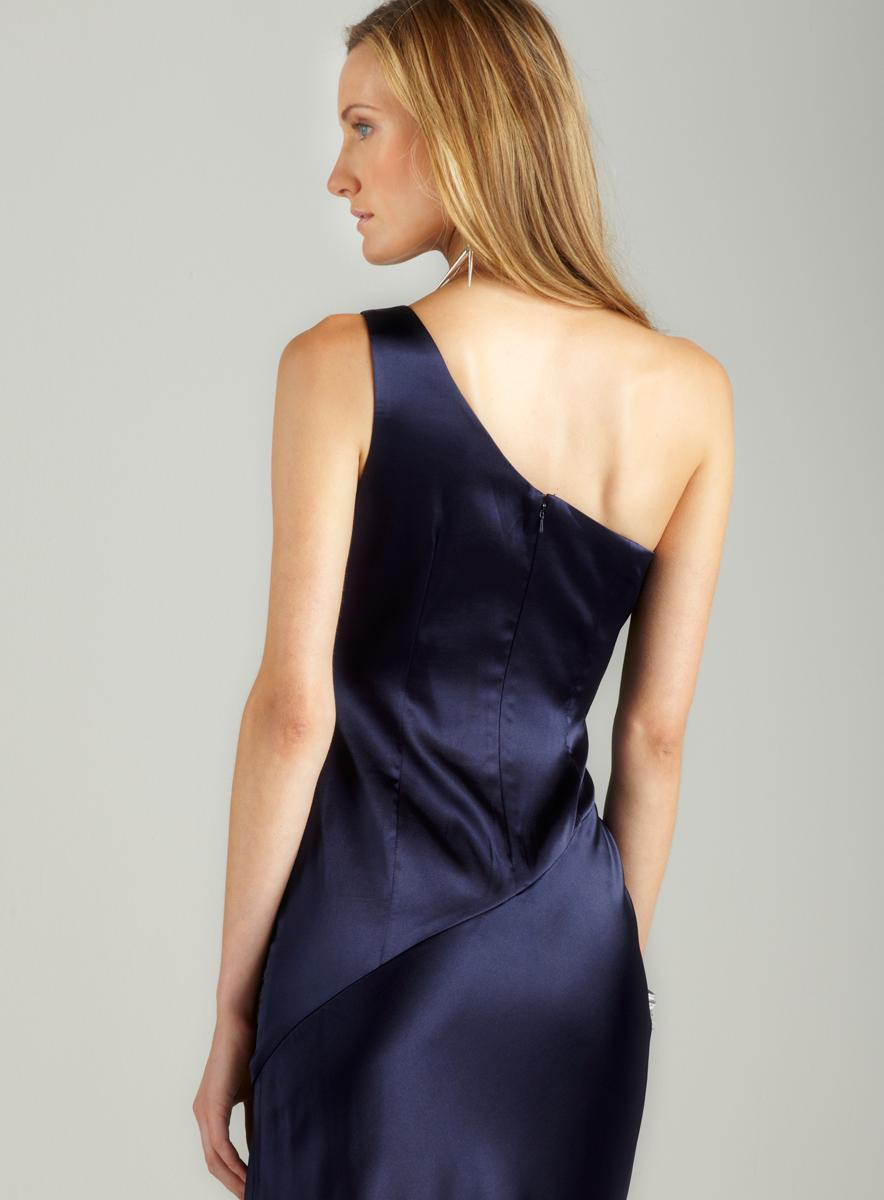Adrianna Papell One Shoulder Sunburst Gown - Thumbnail 1